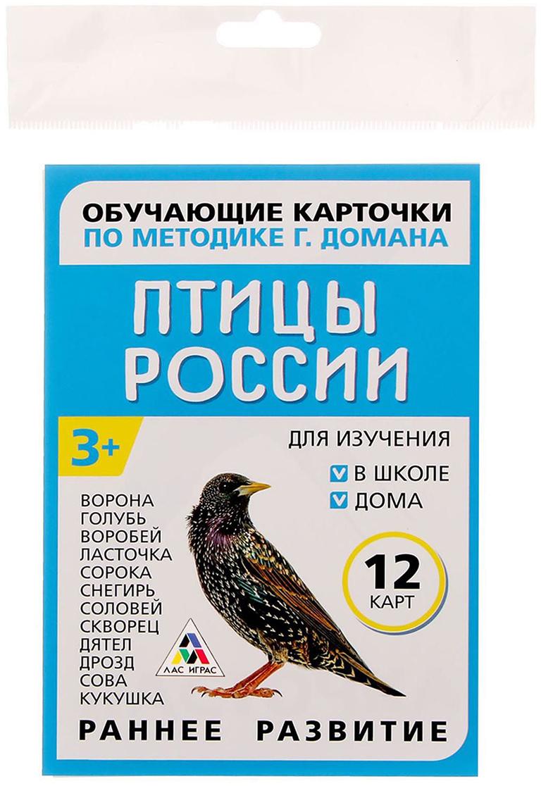 Лас Играс Обучающие карточки по методике Г. Домана Птицы России зимующие птицы россии обучающие карточки