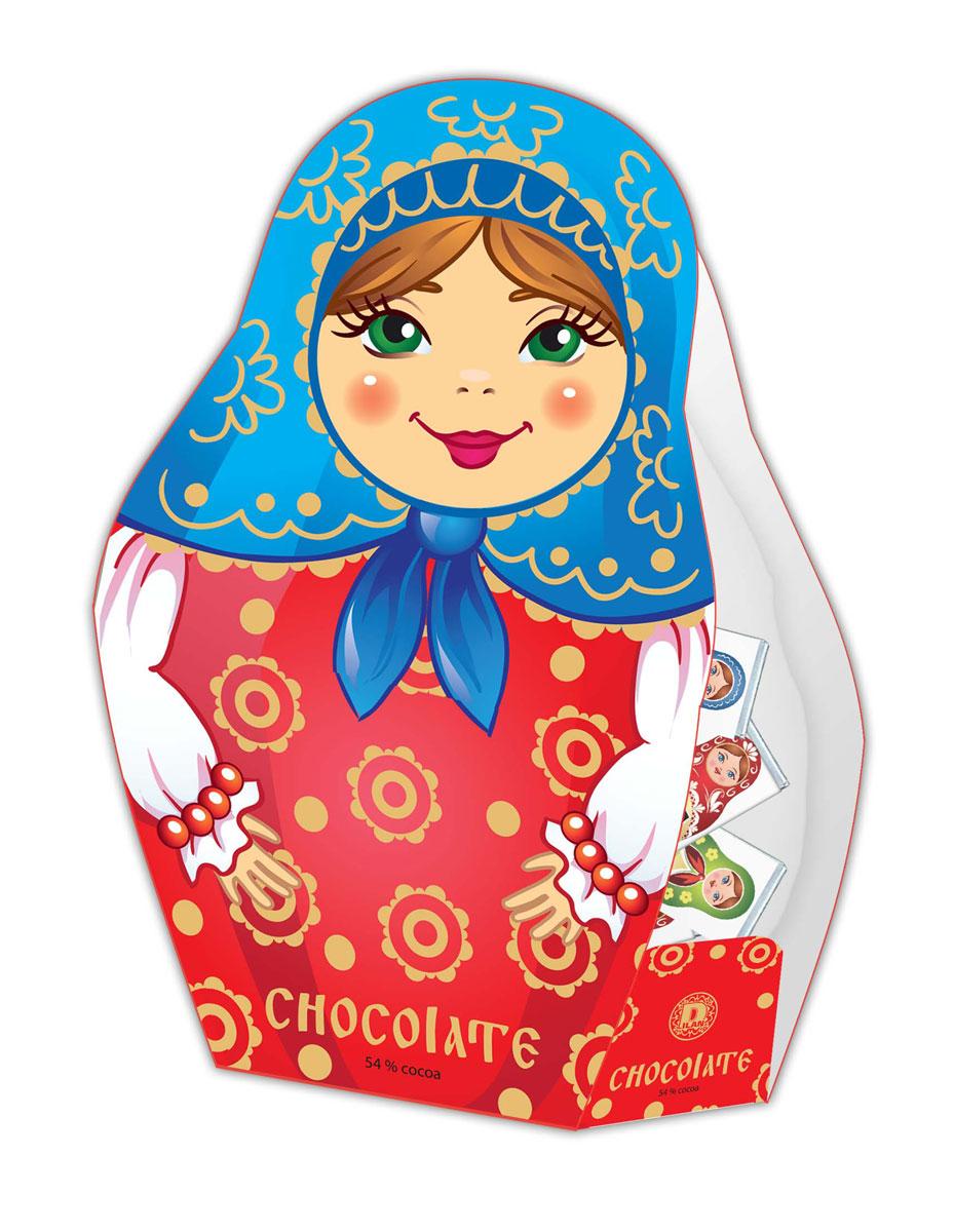 Дилан+ Шоколадный набор Матрешка, 25 шт по 5 г дилан шоколадный набор матрешка 25 шт по 5 г