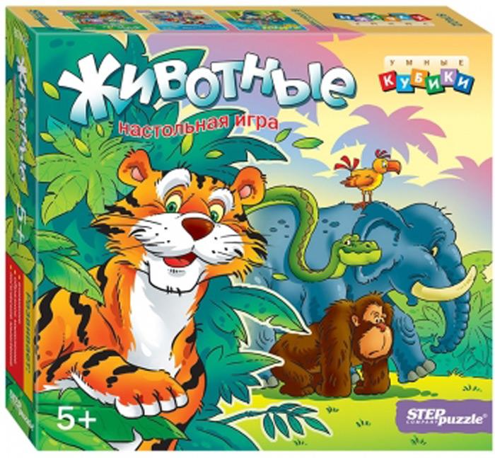 Step Puzzle Развивающая игра Умные кубики Животные