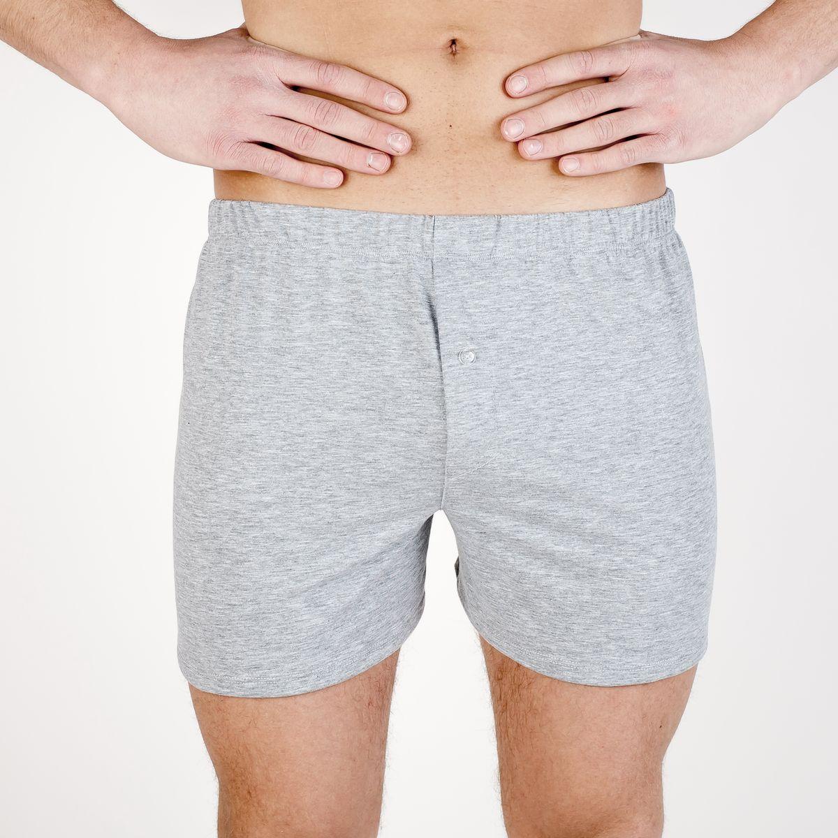 Трусы-шорты мужские Idilio, цвет: серый меланж. THM03. Размер S (46)THM03Мужские трусы-шорты изготовлены из хлопка. Свободный крой, эластичная резинка и удобная посадка обеспечат комфорт на весь день.
