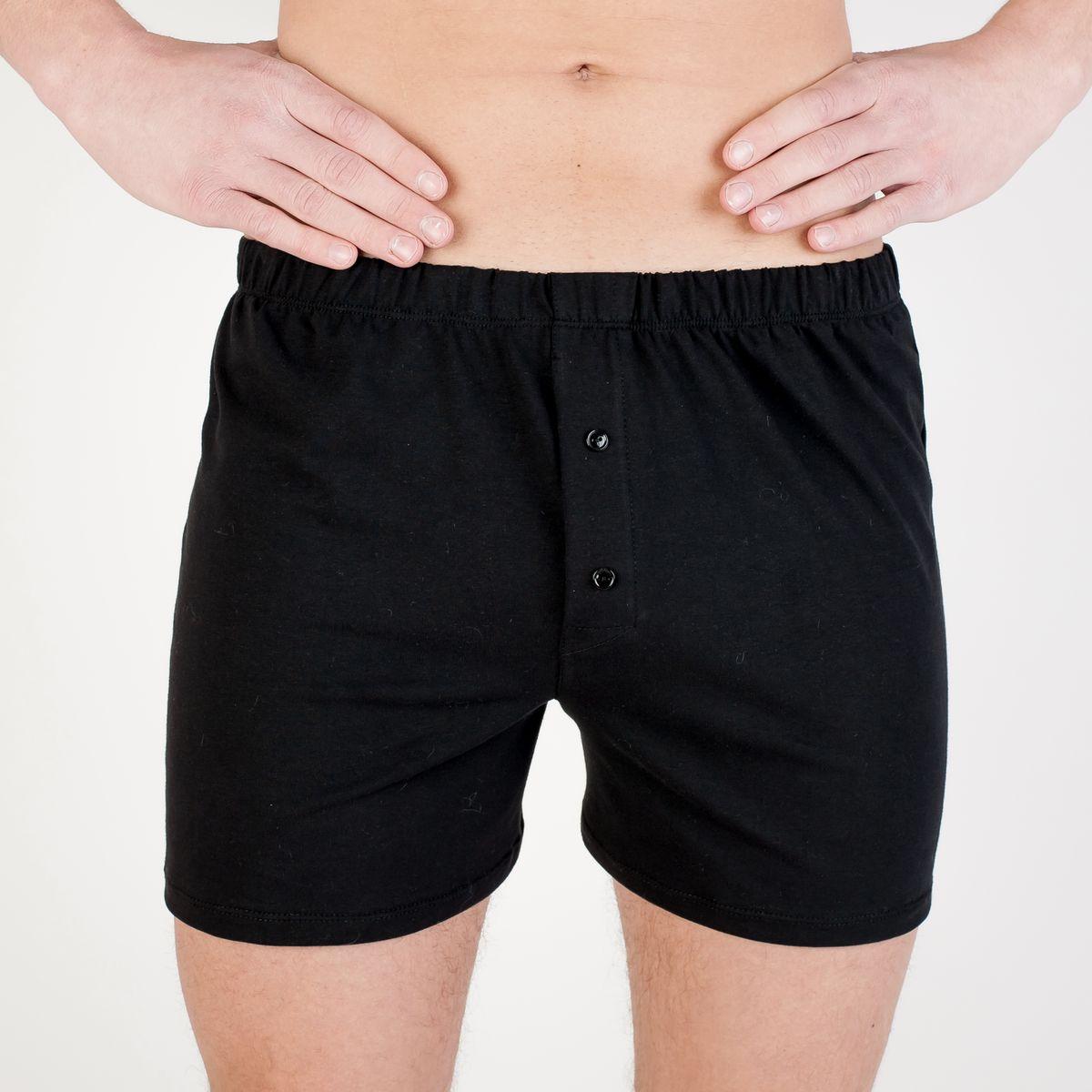 Трусы-шорты мужские Idilio, цвет: черный. THM03. Размер XL (52) jhengyuanxiang мужские трусы средняя посадка хлоковая воздухопроницаемая одежда