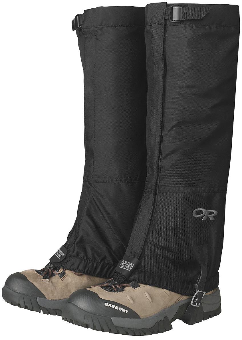 Гамаши Outdoor Research Rocky Mountain High, цвет: черный. 2431080001. Размер L2431080001Высокие гамаши выполнены из прочного нейлона, ткань обладает дышащими и водоотталкивающими свойствами. Вес (S-XL) - 193 г.