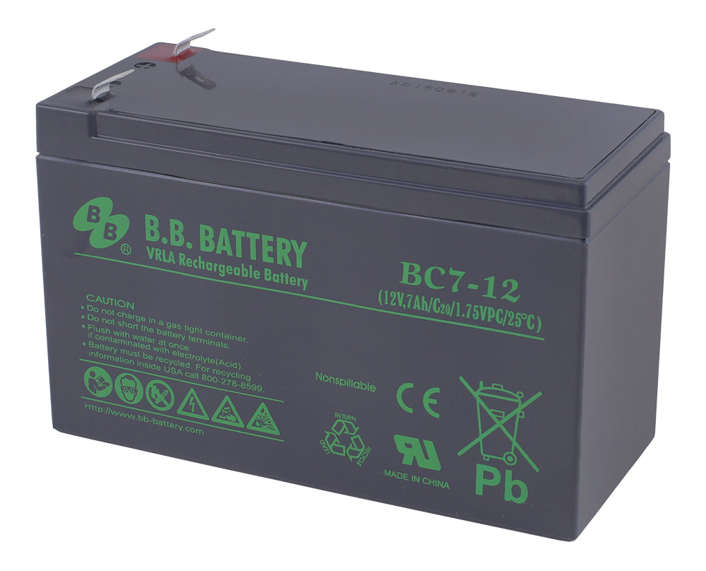 B. B. Battery BC 7-12аккумуляторная батарея для ИБП B.B.Battery