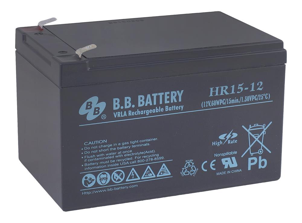 B.B.Battery HR 15-12 аккумуляторная батарея для ИБП - Источники бесперебойного питания (UPS)