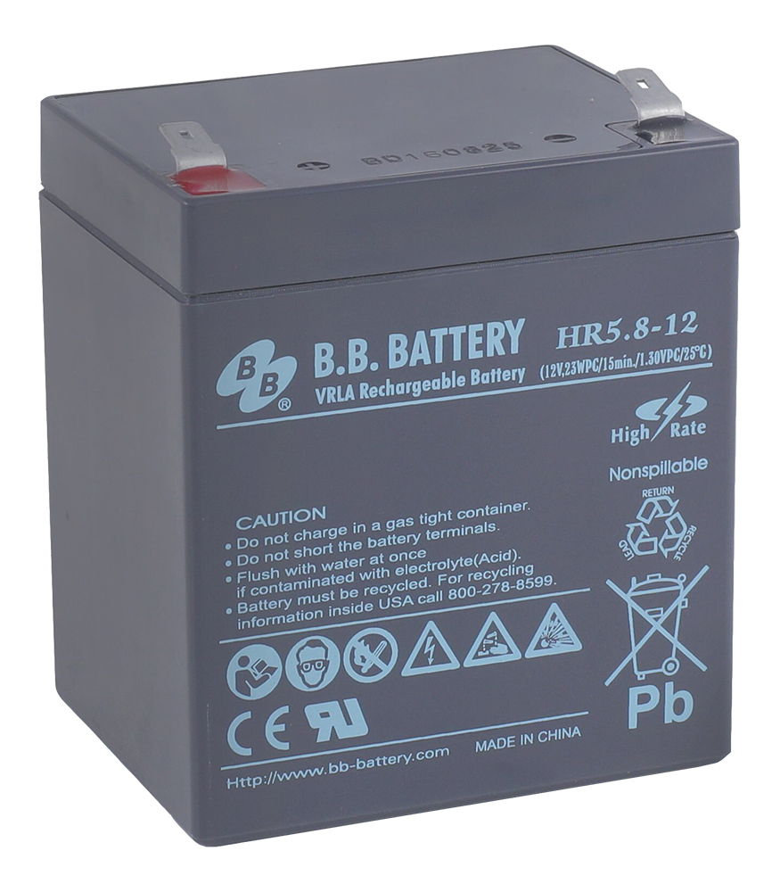 B.B.Battery HR 5.8-12 аккумуляторная батарея для ИБП - Источники бесперебойного питания (UPS)