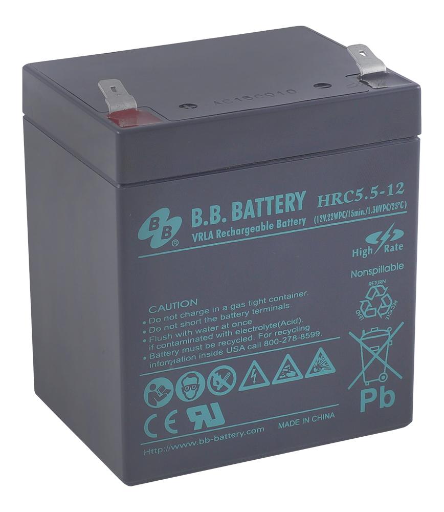 Zakazat.ru B.B.Battery HRC 5.5-12 аккумуляторная батарея для ИБП
