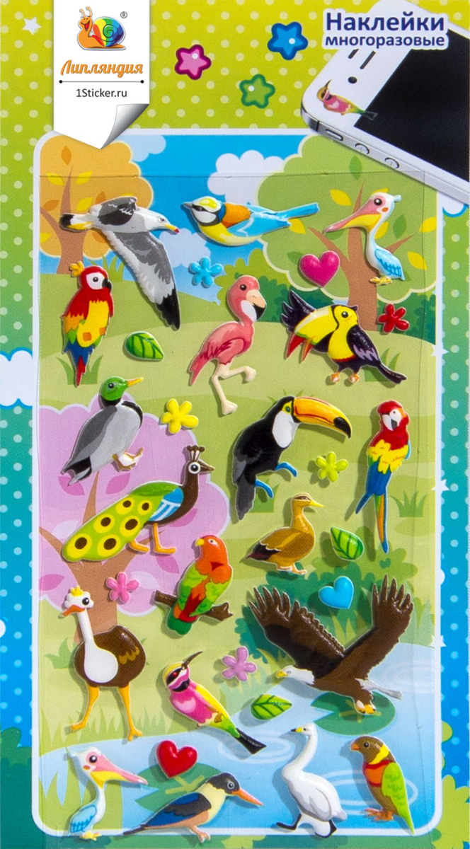 Липляндия Набор наклеек Птицы 2