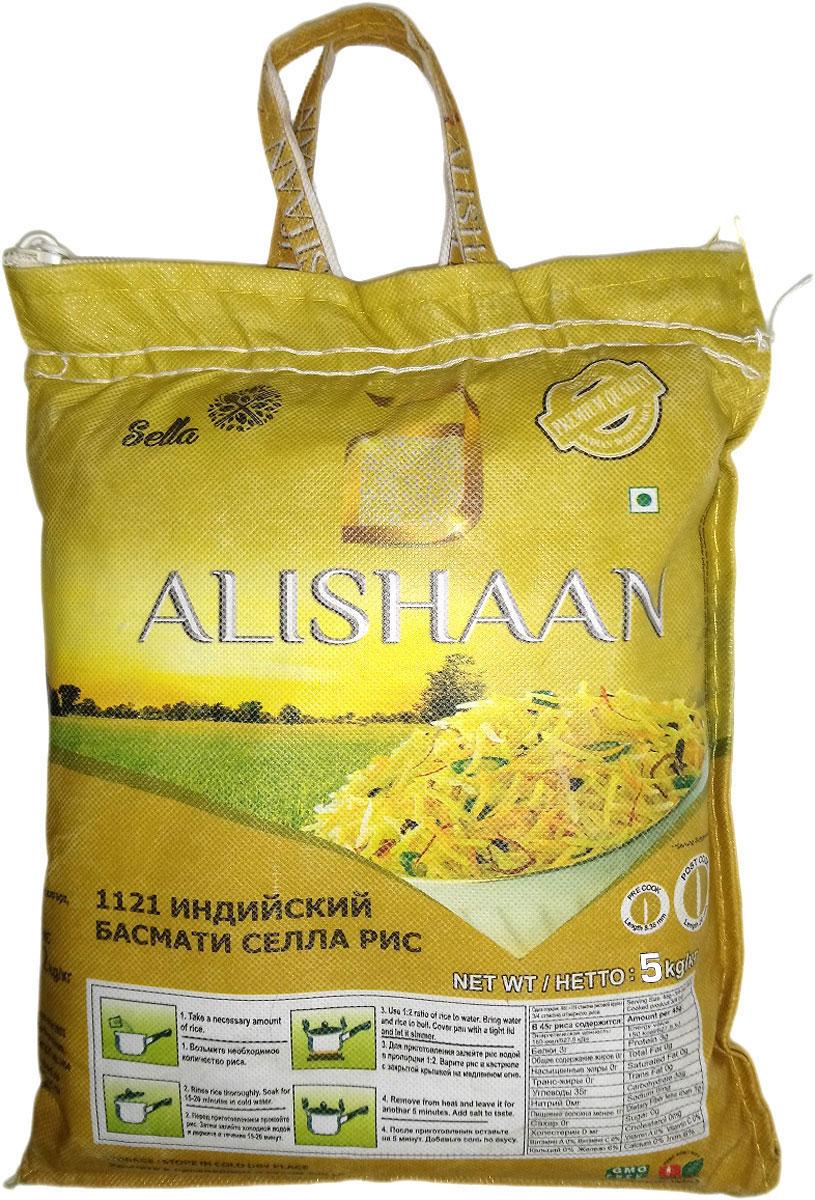 Alishaan пропаренный басмати длиннозерный индийский рис, 5 кг rosenfellner muhle органический рис басмати 500 г