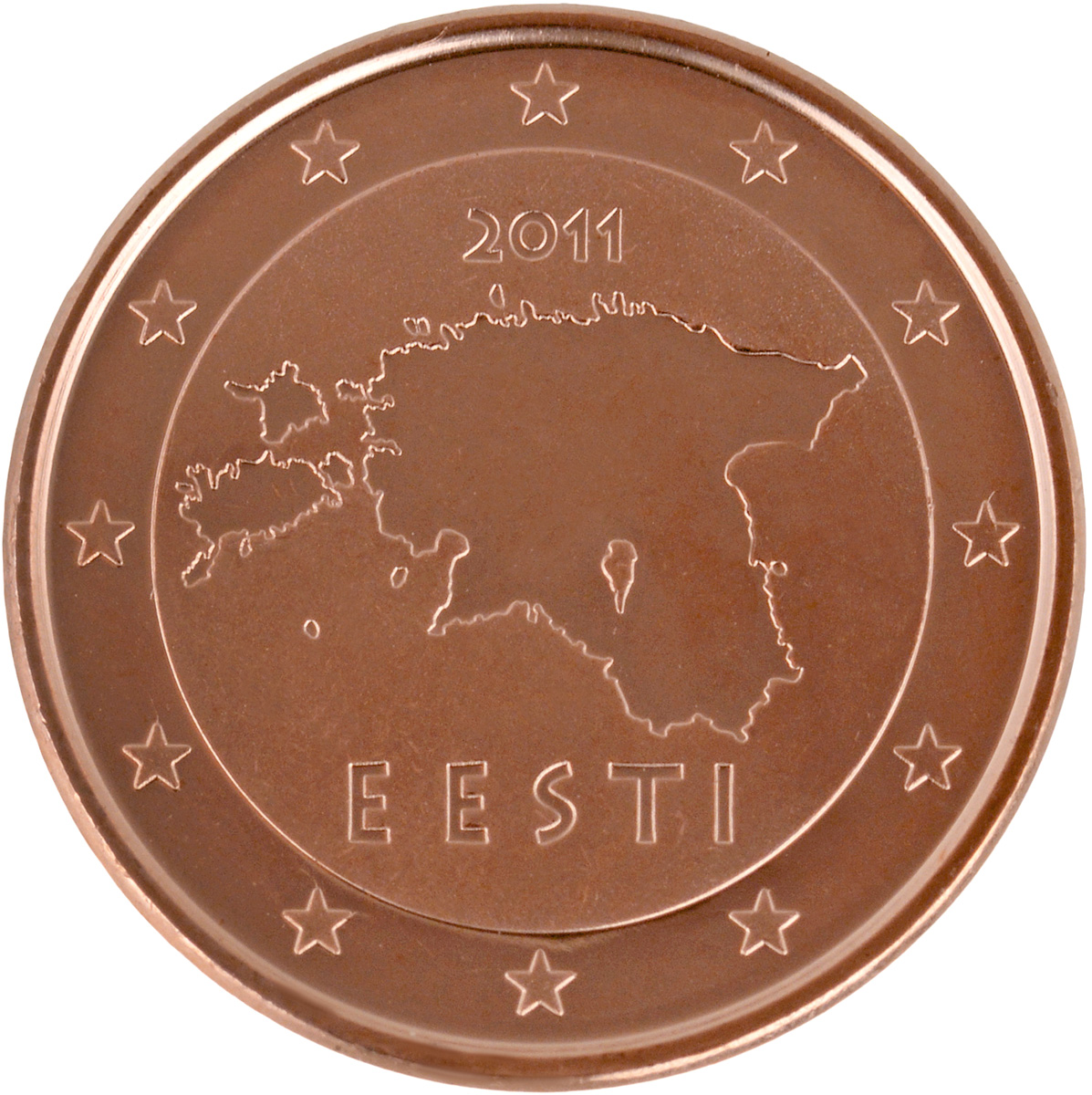Монета номиналом 1 евроцент.  Сталь с медным покрытием.  Австрия, 2017 год Диаметр - 16 мм. Сталь с медным покрытием.. Австрия, 2017 год. Монета...