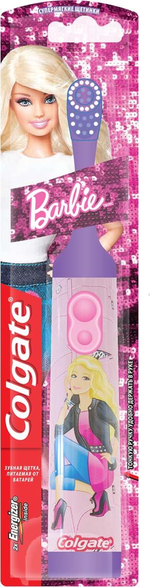 Colgate Зубная щетка Barbie, электрическая, с мягкой щетиной, цвет: фиолетовый зубные щетки colgate зубная щетка 360 sensitive pro relief мягкая