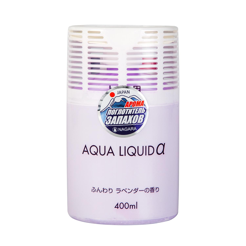 Освежитель воздуха Nagara Aqua liquid для туалета, с ароматом лаванды, 400 мл kobayashi освежитель воздуха для туалета kaori kaoru – аромат белой и лиловой лаванды 140 гр