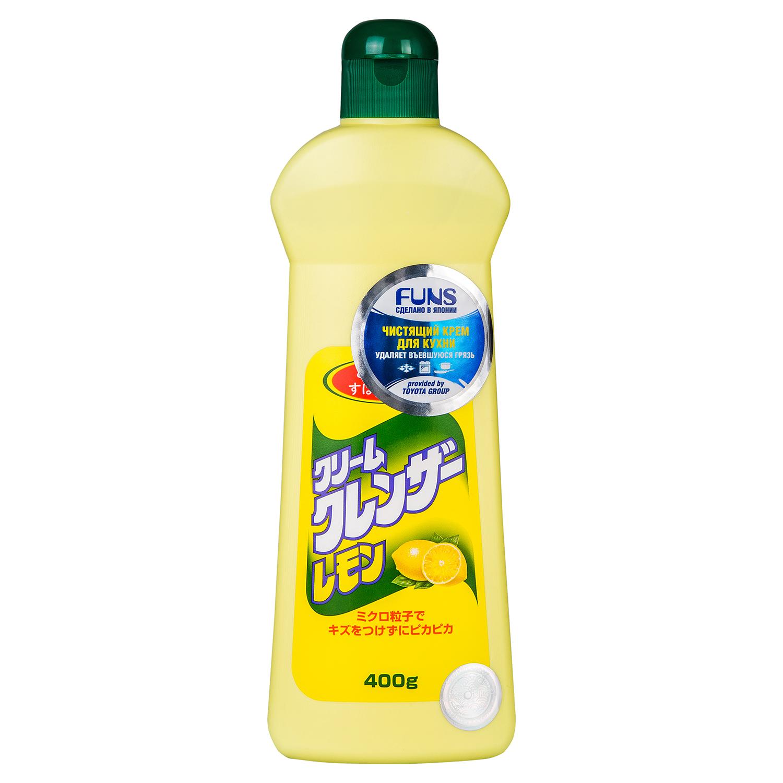 Кремообразное чистящее средство для кухни Daiichi Лимон, 400 г537450Благодаря кремовой основе и входящим в состав продукта очищающим микрочастицам, чистящее средство Daiichi Лимон прекрасно удаляет въевшуюся, прилипшую или пригоревшую грязь. Отмытая поверхность идеально блестит и остается без царапин. Средство чисто удаляет трудновыводимую грязь на различных поверхностях. Предназначены для мытья раковин, кранов, газовых и электрических плит и окружающей их поверхности, посуды, ванной (нержавеющей, эмалевой, кафелевой, фаянсовой), бытовых приборов, кафеля, изделий из хрома. Характеристики:Состав: шлифующий материал (54%), ПАВ (состоят из частиц алканола алкида), стабилизатор. Вес: 400 г. Артикул: 537450. Товар сертифицирован.Как выбрать качественную бытовую химию, безопасную для природы и людей. Статья OZON Гид