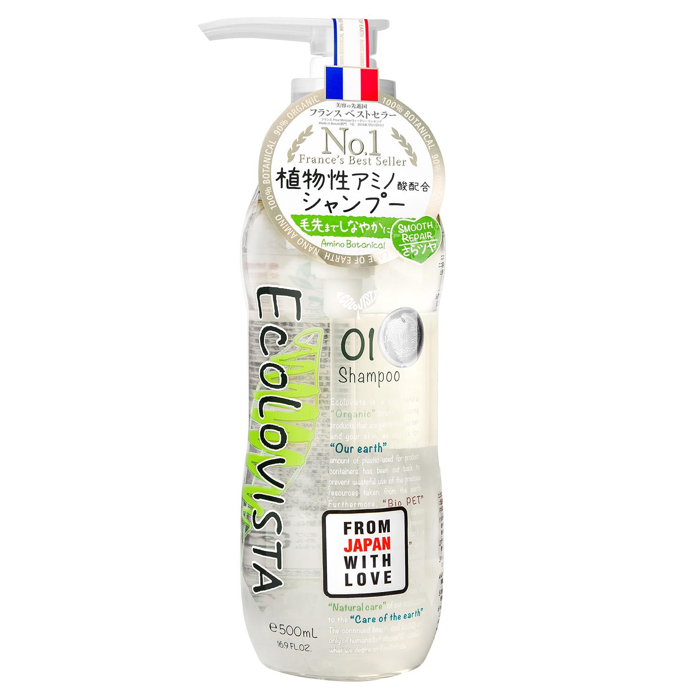 Ecolovista Smooth Repair Шампунь для волос Восстановление, 500 мл890161Натуральный бессиликоновый шампунь для плотных, поврежденных и непослушных волос с аминокислотами, натуральными маслами и семенами моринги. Прекрасно очищает кожу головы и волосы, восстанавливая их по всей длине. Благодаря природным ингредиентам после использования волосы становятся послушными и легкими, увеличивается прикорневой объем. Содержит: 7 сортов органических масел: ши, оливковое, аргановое, кокосовое, миндальное, бергамота. 10 видов растительных экстрактов: дамасской розы, цветов лаванды, розы, листьев шалфея, мелиссы, тысячелистника, мяты перечной, семян моринги, лимона. Аминокислоты, Гиалуроновая кислота, платина Входящие в состав экстракт дамасской розы и аргановое масло питают и увлажняют кожу головы, восстанавливая ломкие волосы и избавляя их от секущихся кончиков. Мелисса и семена моринги укрепляют луковицы и основание волоса, нормализируя работу сальных желез, восстанавливает поврежденные или слабые корни и разглаживает волосы по всей длине. Ментол очищает кожу и придает волосам блеск и силу. Обладает свежим цветочным ароматом с нотами розы, бергамота и мелиссы. Рекомендуем шампунь для глубокого очищения кожи головы и волос, восстановления их структуры, обладателям кудрявых непослушных волос или жирной кожи головы. Шампунь для ежедневного применения без силиконов. Подходит для окрашенных волос.Рекомендуется использовать вместе с кондиционером ECOLOVISTA Smooth Repair Бальзам-кондиционер для волос Восстановление или маской ECOLOVISTA Smooth Repair Маска для волос Двойное Восстановление.О бренде:Ecolovista – линейка для ухода за поврежденными, сухими, ломкими или непослушными волосами, производимая на 90% из натуральных компонентов. Ecolovista заботится не только о коже головы и структуре волос, но и о состоянии планеты. Eco – экология, экологичныйСостав на 90% состоит натуральных растительных компонентов для красоты и здоровья волос. Даже упаковка говорит о заботе к состоянию план