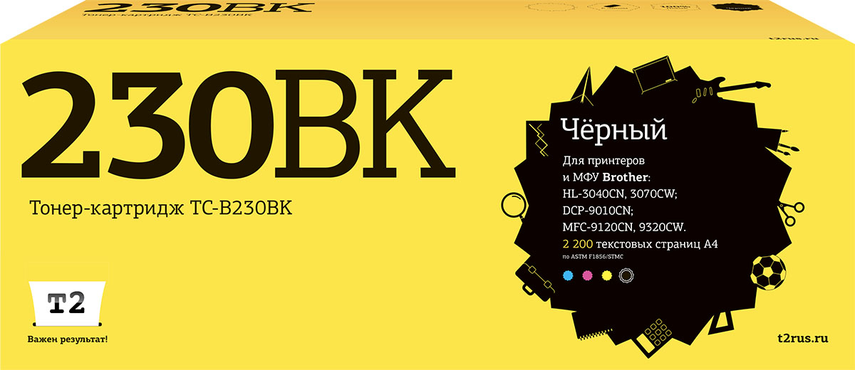 Фото - T2 TC-B230BK, Black тонер-картридж для Brother HL-3040CN/DCP-9010CN/MFC-9120CN t2 ic b1240y yellow картридж для brother dcp j525 mfc j430 j825 j5910 j6510 j6910