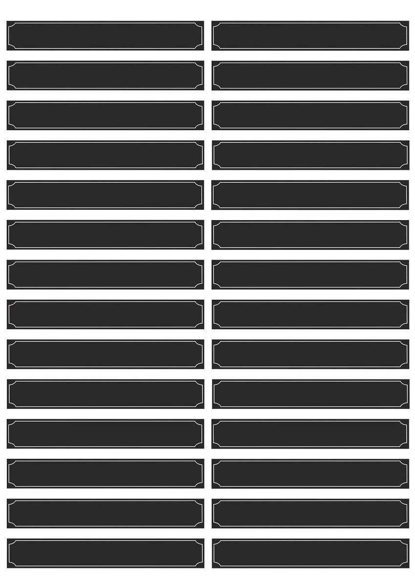 Наклейки пригодятся в делопроизводстве - для нумерации и наименований полок, книг, папок, журналов и т.п. Наклейки черного цвета на деловых папках, полках или учебных материалах смотрятся оригинально и ярко. Для надписей на таких наклейках подойдут маркеры или фломастеры белого, серебристого цветов.