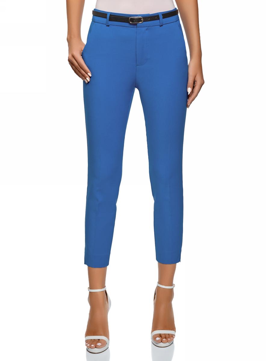 Купить Брюки женские oodji Ultra, цвет: синий. 11702067/33574/7500N. Размер 36 (42-170)