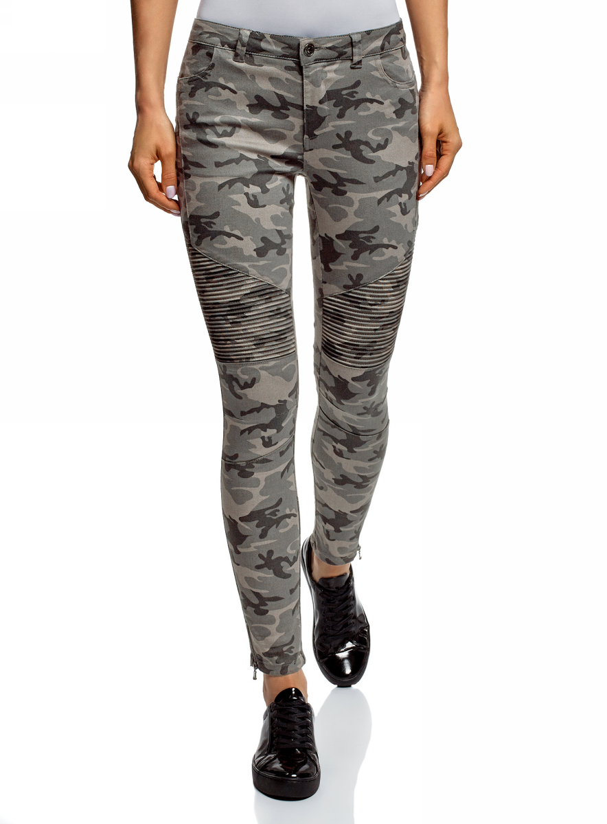Джинсы женские oodji Ultra, цвет: светло-серый, темно-серый. 12104074/47745/2025O. Размер 28 (46-32) джинсы женские oodji ultra цвет темно синий джинс 12106146 46787 7900w размер 26 32 42 32