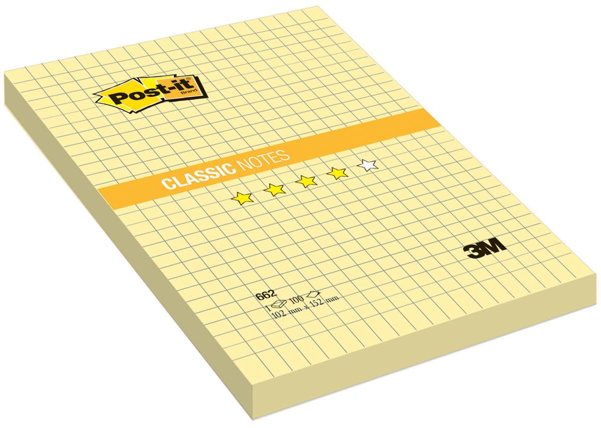 Бумага для заметок Post-it, с липким слоем, цвет: желтый, 100 листов. 662662Бумагу для заметок в линейку Post-it удобно использовать для записи номеров телефонов, адресов, напоминания о важной встрече или внезапно пришедшей полезной мысли. Бумагу можно наклеивать на любую гладкую поверхность, без опасения оставить след от клея. Блок содержит 100 листов из бумаги в клетку желтого цвета. Характеристики:Размер листа: 10,2 см х 15,2 см. Количество: 100 листов.