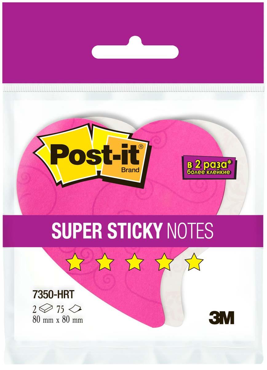 Post-it Бумага для заметок Сердце с липким слоем цвет розовый белый 150 листов