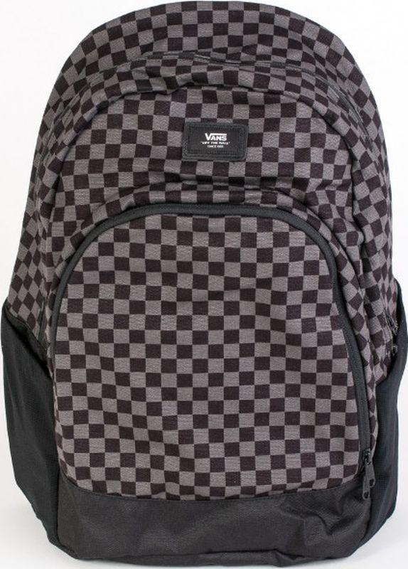 Рюкзак мужской Vans Van Doren Original, цвет: черный, серый, 22 л. VA36OSBA5VA36OSBA5Классический рюкзак от Vans с большим главным отделением и передним карманом на молнии с органайзером.