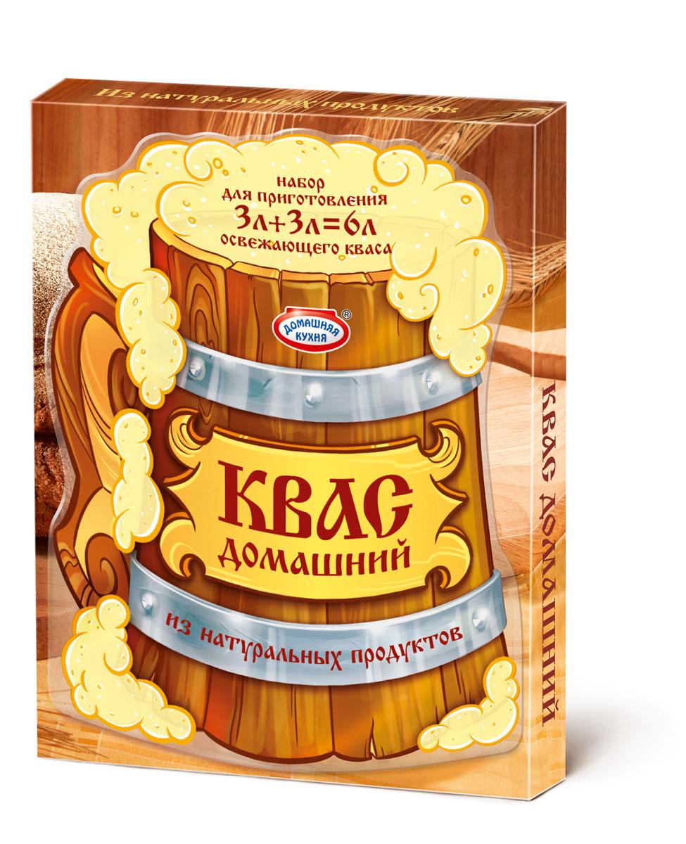 """Квас — исконно русский напиток. В составе набора натуральный концентрат квасного сусла и дрожжи. Классический и хорошо известный вкус домашнего кваса, обладает приятным ароматом и умеренной газированностью. Попробуйте всю линейку Кваса от """"Домашней кухни""""!"""