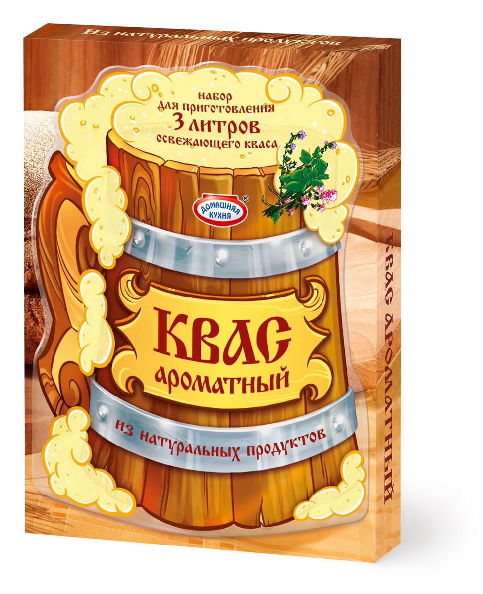 """Набор для приготовления домашнего кваса с ароматными травами. В составе только натуральные ингредиенты: концентрат квасного сусла, дрожжи, чабрец, мята и душица. Пряные травы открывают вкус всеми любимого напитка с новой неожиданной стороны. Такой квас идеально утолит жажду знойным летним днём. Попробуйте всю линейку Кваса от """"Домашней кухни""""!"""