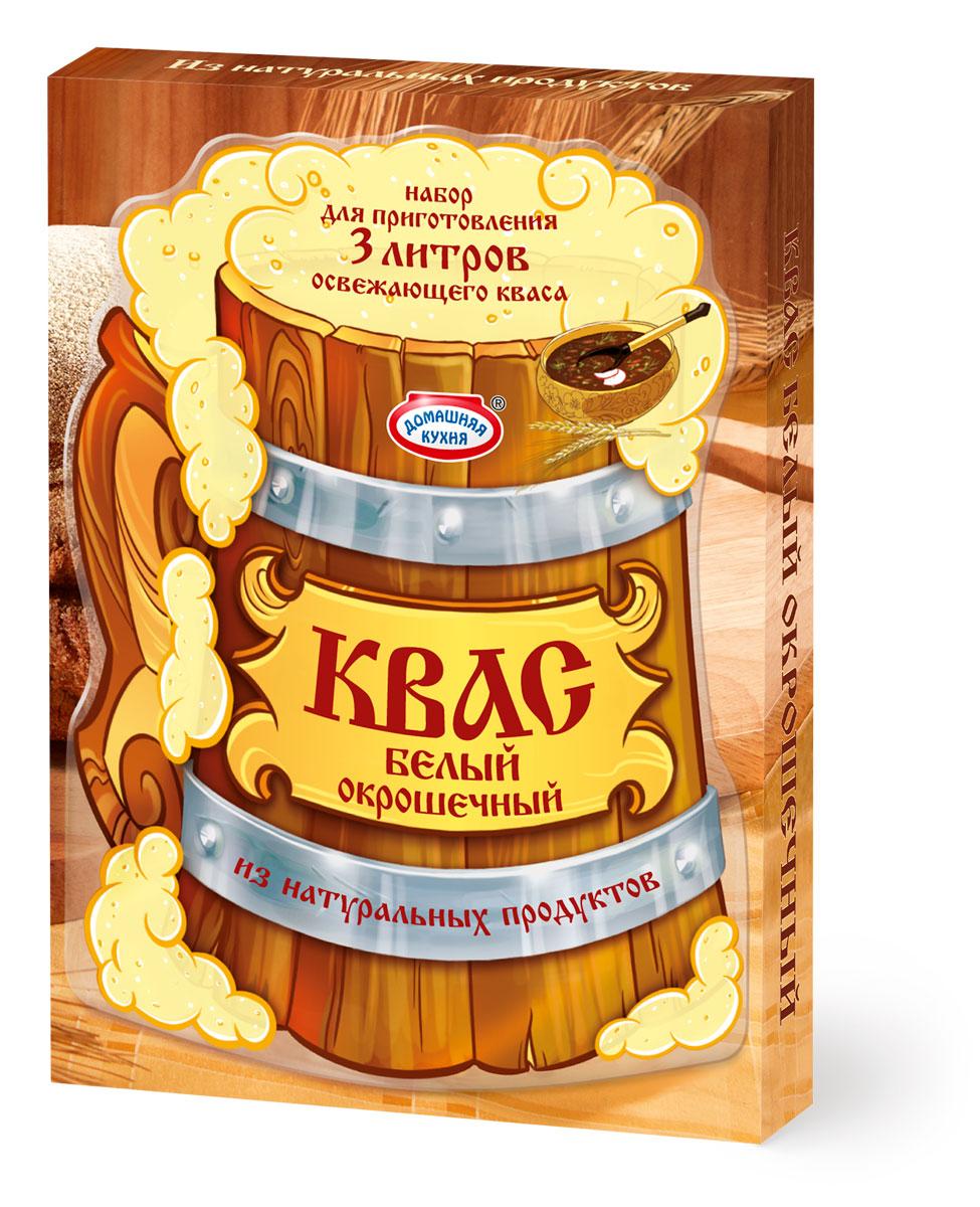 """Набор для приготовления вкусного и пряного домашнего кваса специально для окрошки. В составе только натуральные ингредиенты: концентрат квасного сусла, дрожжи и ароматные пряности – хрен и мята. Островатый свежий вкус кваса идеально сочетается с традиционной летней окрошкой, добавляя ей пикантные нотки. Попробуйте всю линейку Кваса от """"Домашней кухни""""!"""