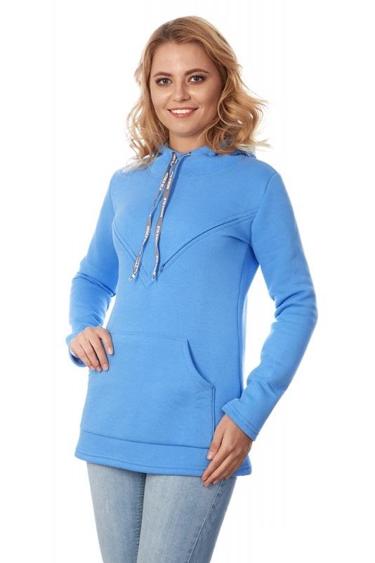Купить Свитшот для кормящих Mum's Era Бетти, цвет: голубой. 36056. Размер L (50)