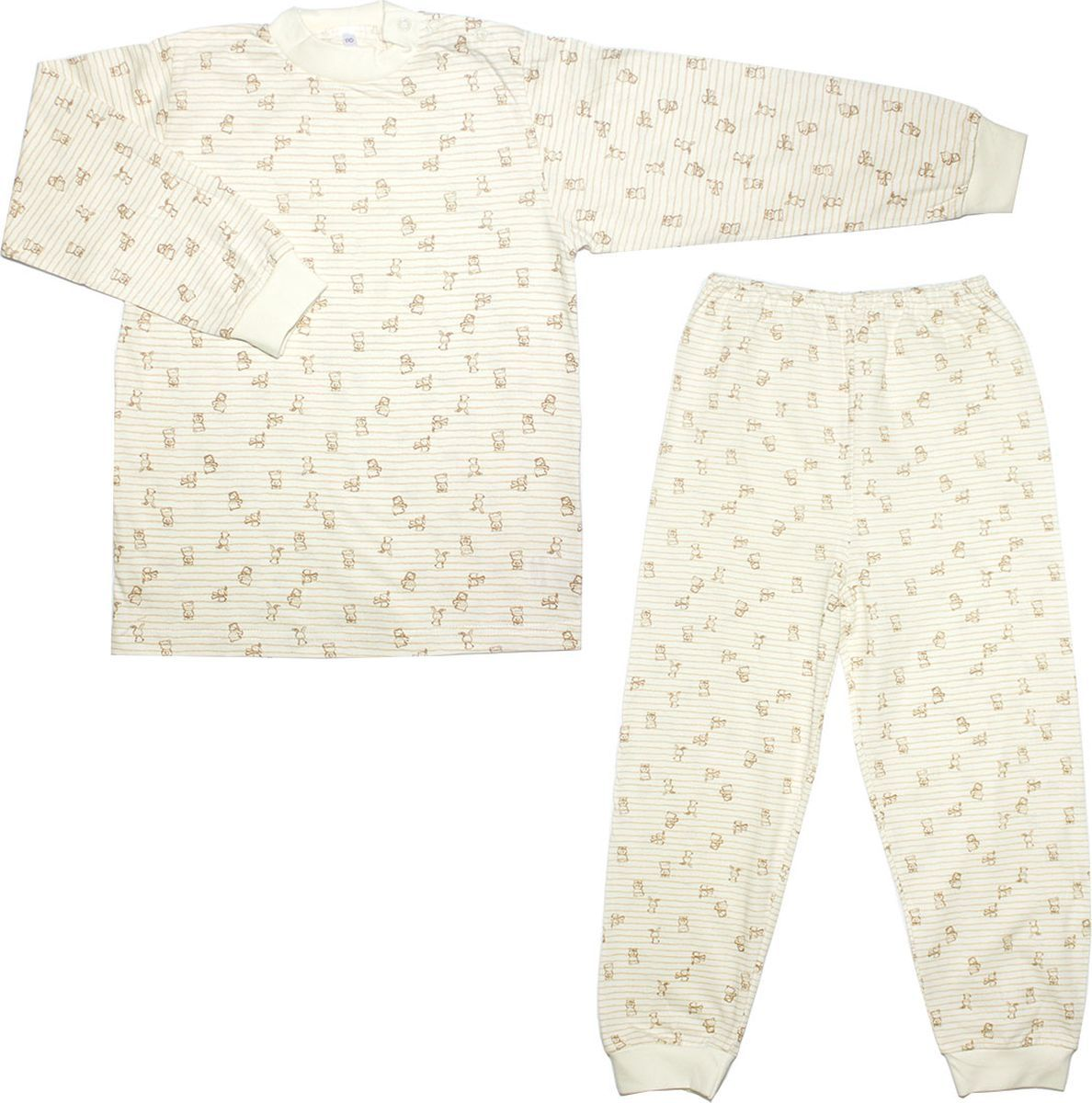 Пижама детская Осьминожка, цвет: молочный, бежевый. 116-20. Размер 116 dress 92 116 cm