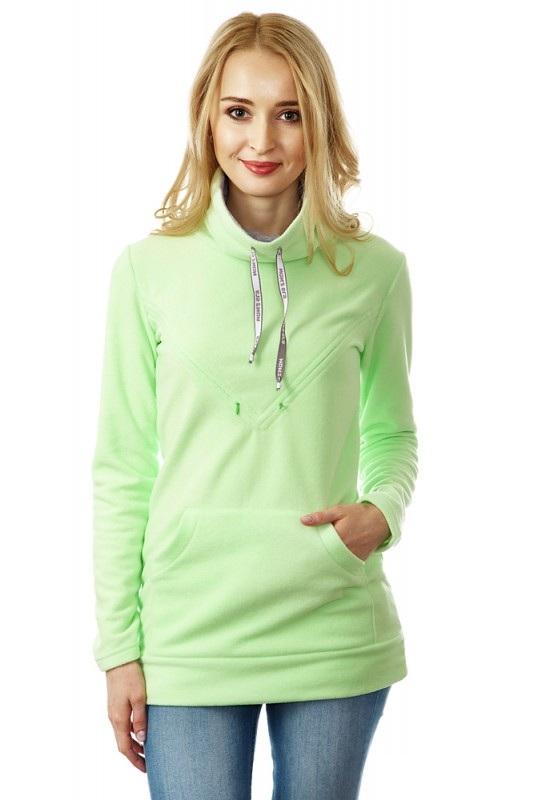 Купить Свитшот для кормящих Mum's Era Олимпиус, цвет: светло-зеленый. 34777. Размер L (50)