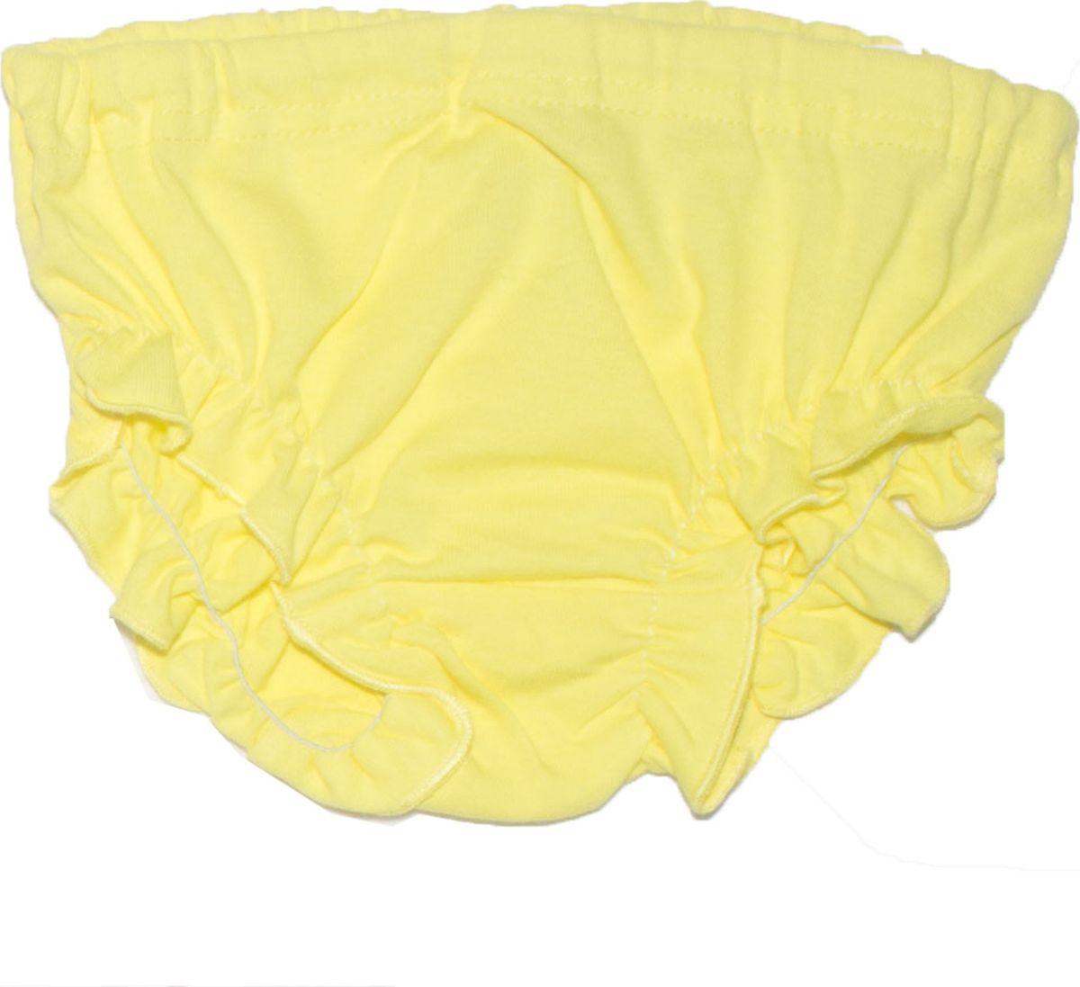 Трусы для девочки Осьминожка, цвет: желтый. 110-03. Размер 74110-03Чудесные трусики для девочек под памперс с оборочками из тонкого лекого трикотажа 100% хлопок