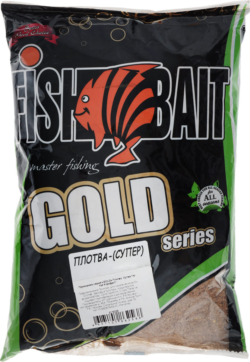 Прикормка для рыб FishBait Gold Плотва Супер, летняя, 1 кг