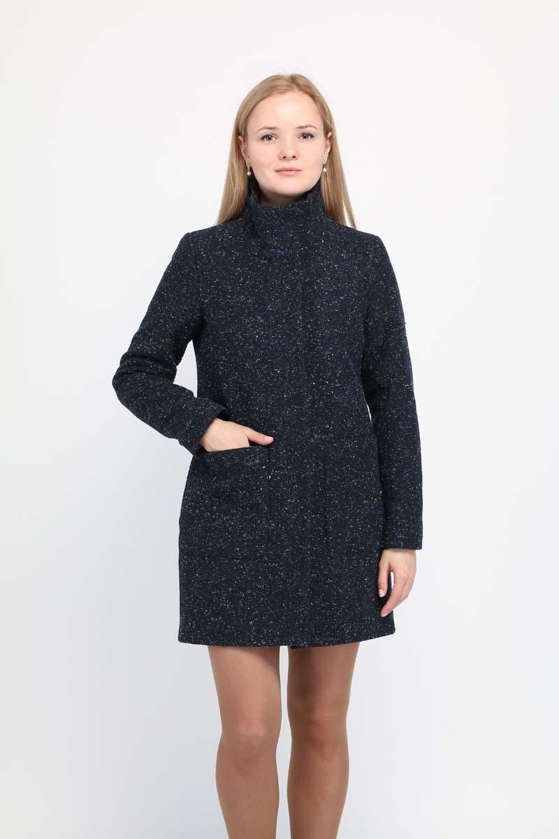 Купить Пальто женское Alessandro Vasaio, цвет: темно-синий. 1673. Размер XS (42)