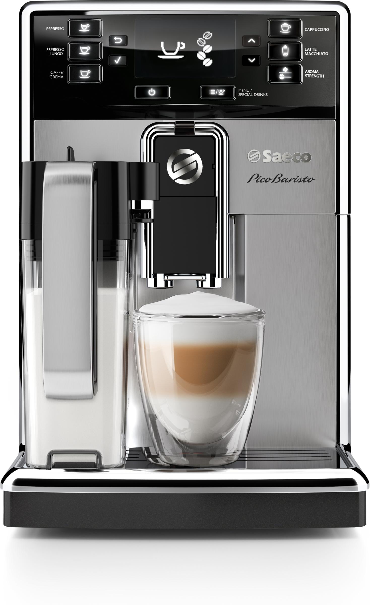 Saeco PicoBaristo HD8928/09 кофемашина кофемашина jura a9 aluminium 15118 1450вт 15бар автокапуч