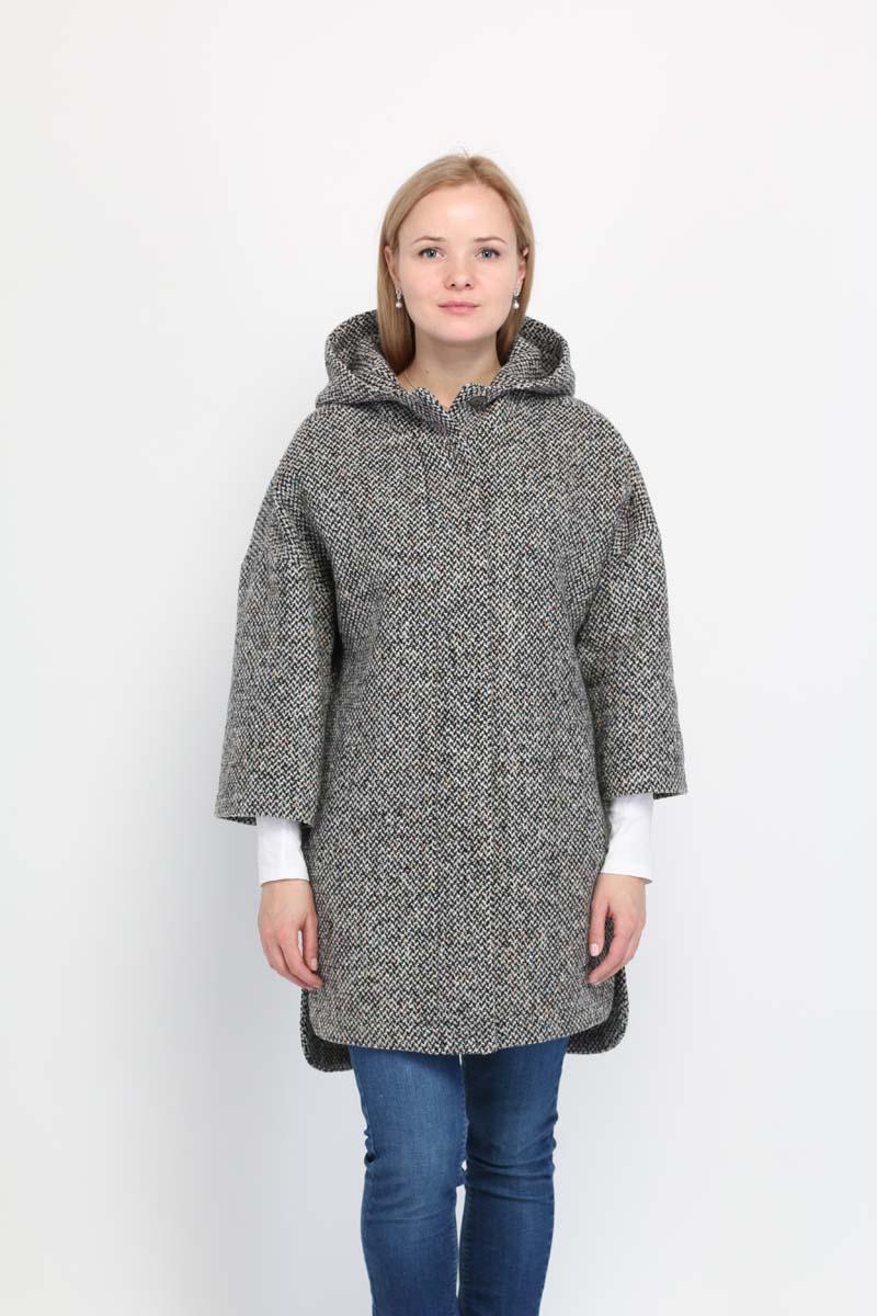 Пальто женское Alessandro Vasaio, цвет: серый. 1433. Размер M (46)
