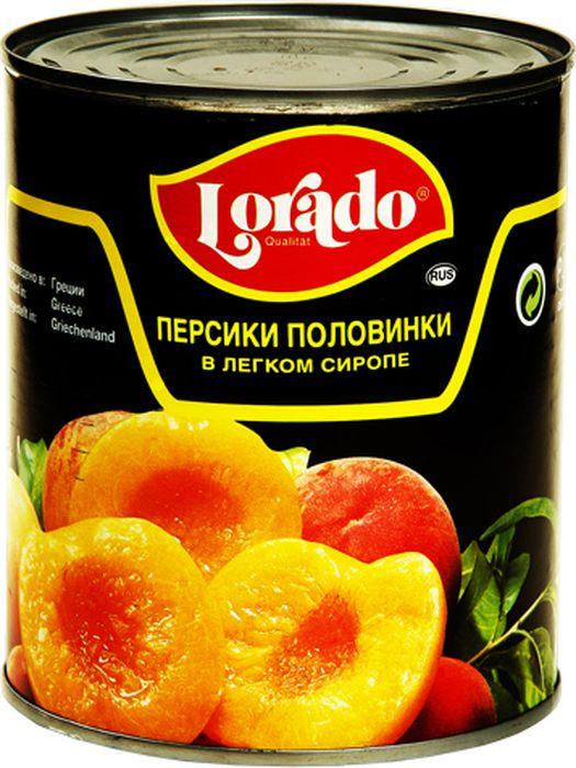 Lorado Персики половинки в легком сиропе, 850 мл lorado ананас кусочки в легком сиропе 580 мл