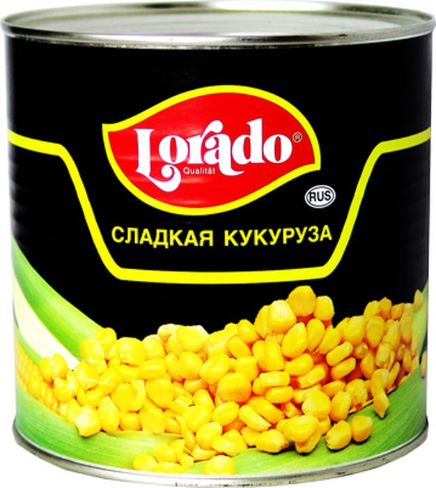 Lorado Кукуруза, 425 мл lorado шампиньоны резаные 425 мл