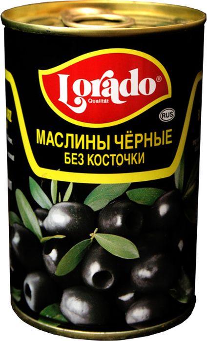 Lorado Маслины черные без косточки, 314 мл lorado шампиньоны резаные 425 мл