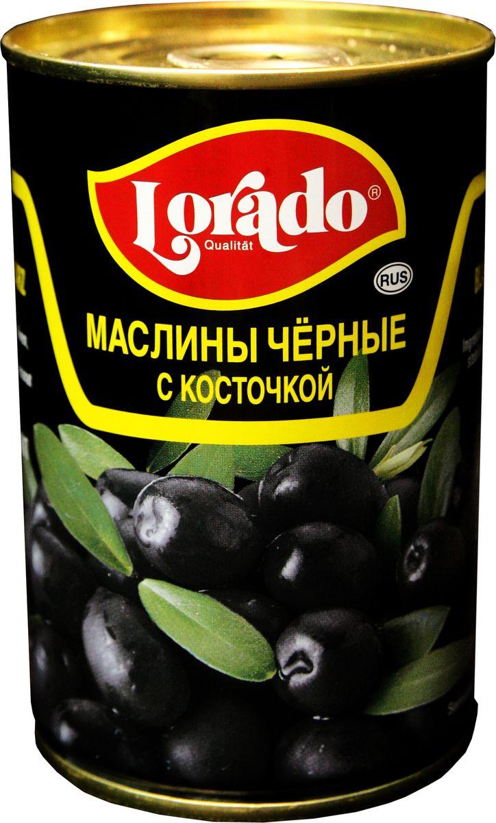 Lorado Маслины черные с косточкой, 314 мл оливки чёрные pikarome с косточкой в рассоле 3 2 кг