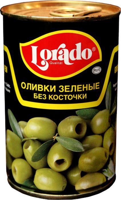 Lorado Оливки зеленые без косточки, 314 мл оливки без косточки принцесса вкуса 300 мл