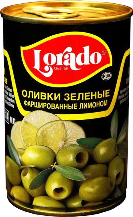Lorado Оливки фаршированные лимоном, 314 мл lorado оливки зеленые без косточки 314 мл