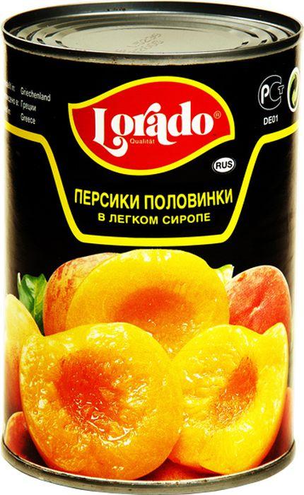 Lorado Персики половинки в легком сиропе, 425 мл lorado ананас кусочки в легком сиропе 580 мл