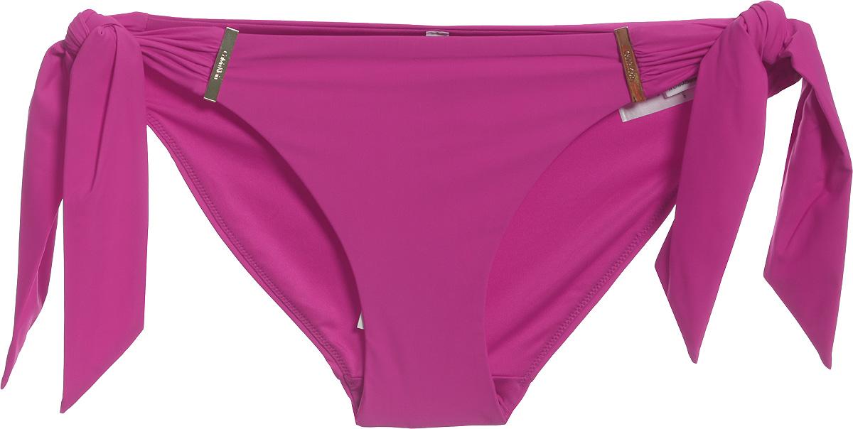 Купальные плавки женские Calvin Klein Underwear, цвет: розовый. KW0KW00331_011. Размер XL (48)