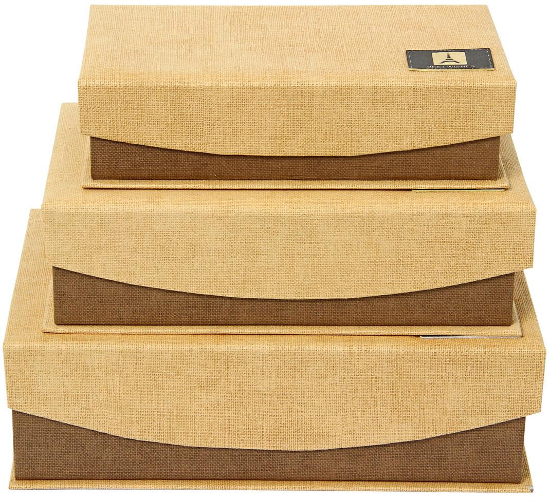 Набор подарочных коробок Veld-Co Шоколад, с магнитами, цвет: светло-коричневый, 3 шт набор подарочных коробок veld co шоколад с магнитами цвет светло коричневый 3 шт
