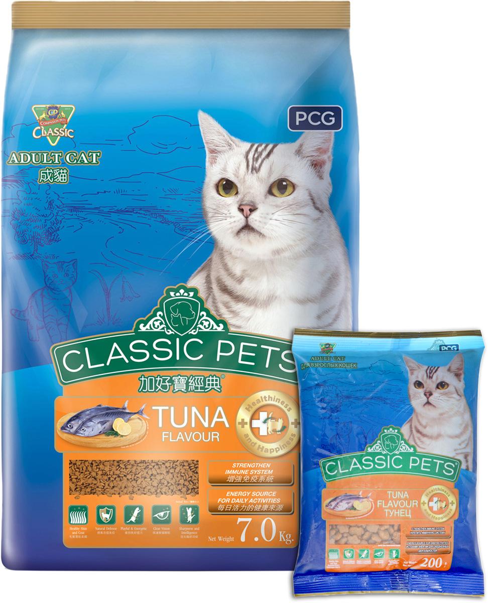 Корм сухой для кошек PCG Классик, тунец, 200 г, 35 шт корм консервированный для кошек pcg ме о тунец в желе 400 г