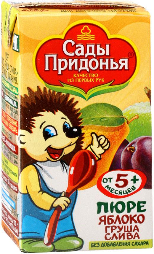 Сады Придонья пюре яблоко-абрикос с сахаром, 18 шт по 125 г пюре сады придонья яблоко тыква с 5 мес 125 г