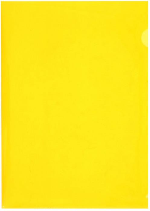 Durable Папка-уголок формат A4 цвет желтый 10 шт2197-04Папка-уголок из высококачественного полипропилена. Формат А4. Плотность 180 мкр. Яркие насыщенные цвета, матовая фактура. Специальная выемка с оборотной стороны облегчает работу с документами.Цвет желтый. В упаковке 10 штук.