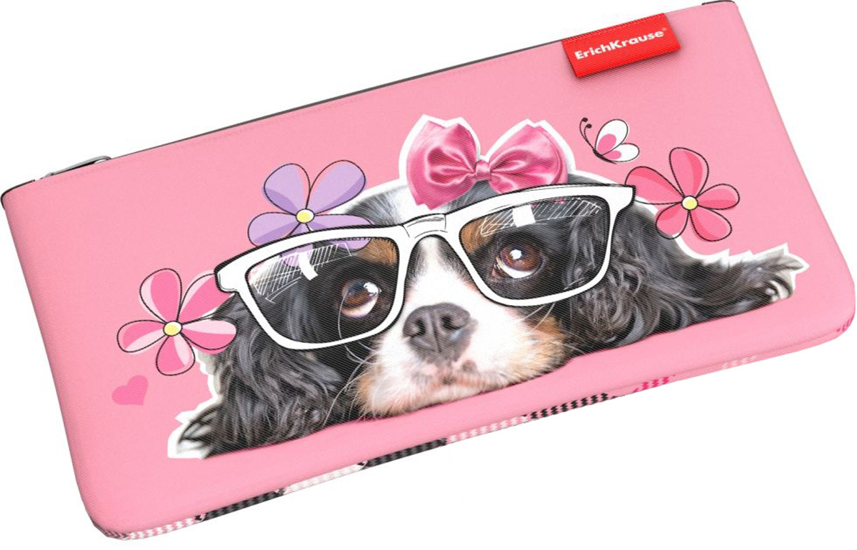 Erich Krause Пенал Конверт Clever Dog erich krause пенал книжка clever dog