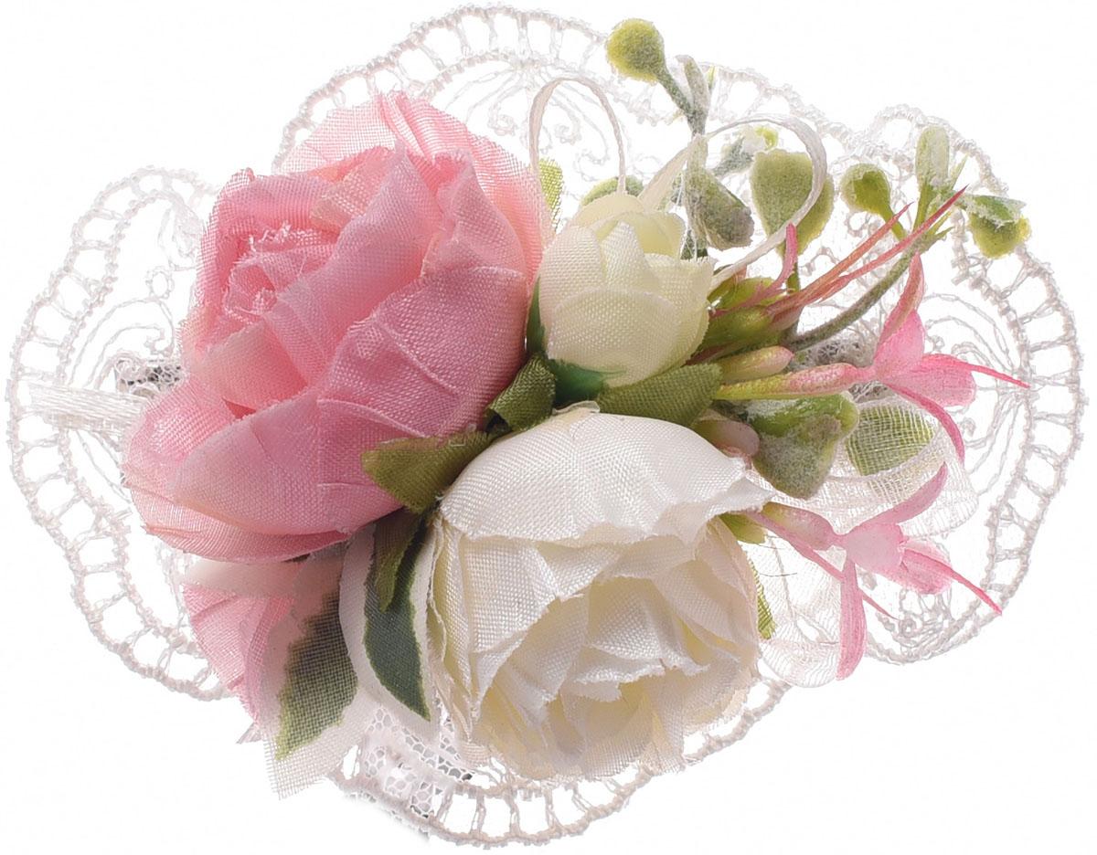 Заколка для волос Malina By Андерсен Флер, цвет: розовый. 11801тм10 ez combs заколка изи комбс одинарная цвет розовый зио листья