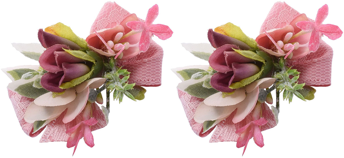 Резинка для волос Malina By Андерсен Адриана, цвет: розовый, 2 шт. 11803рм2211803рм22